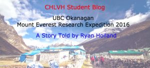CHLVH Student Blog by Ryan Hoiland
