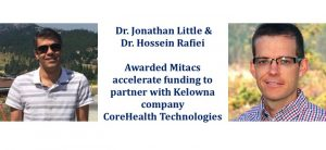 Congratulations to Dr. Jonathan Little and Dr. Hossein Rafiei on recieving Mitacs Accelerate funding