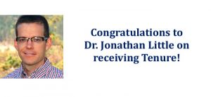 Congratulations to Dr. Jonathan Little on receiving Tenure!